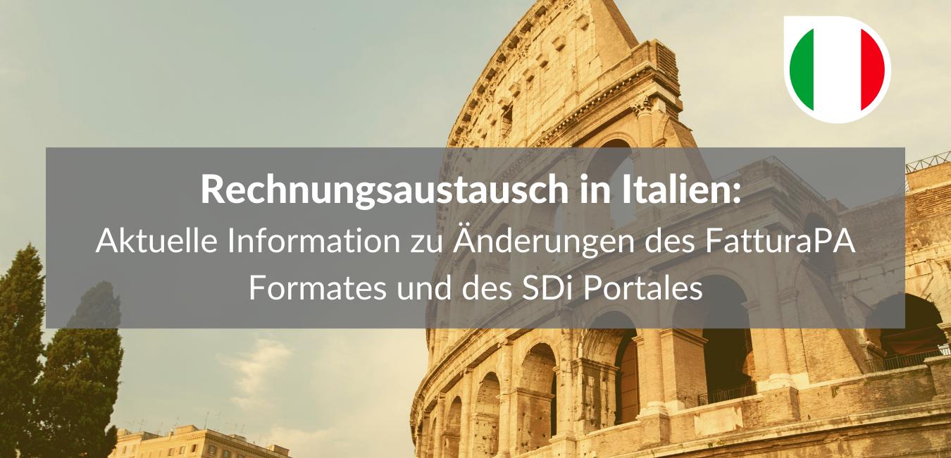 Rechnungsaustausch in Italien 2